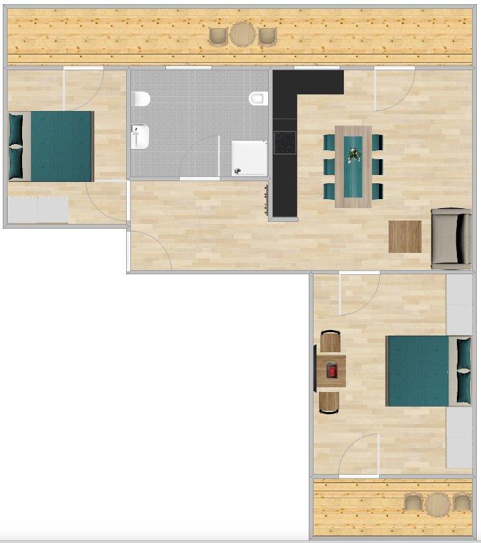 Grundriss Appartment Fermeda
