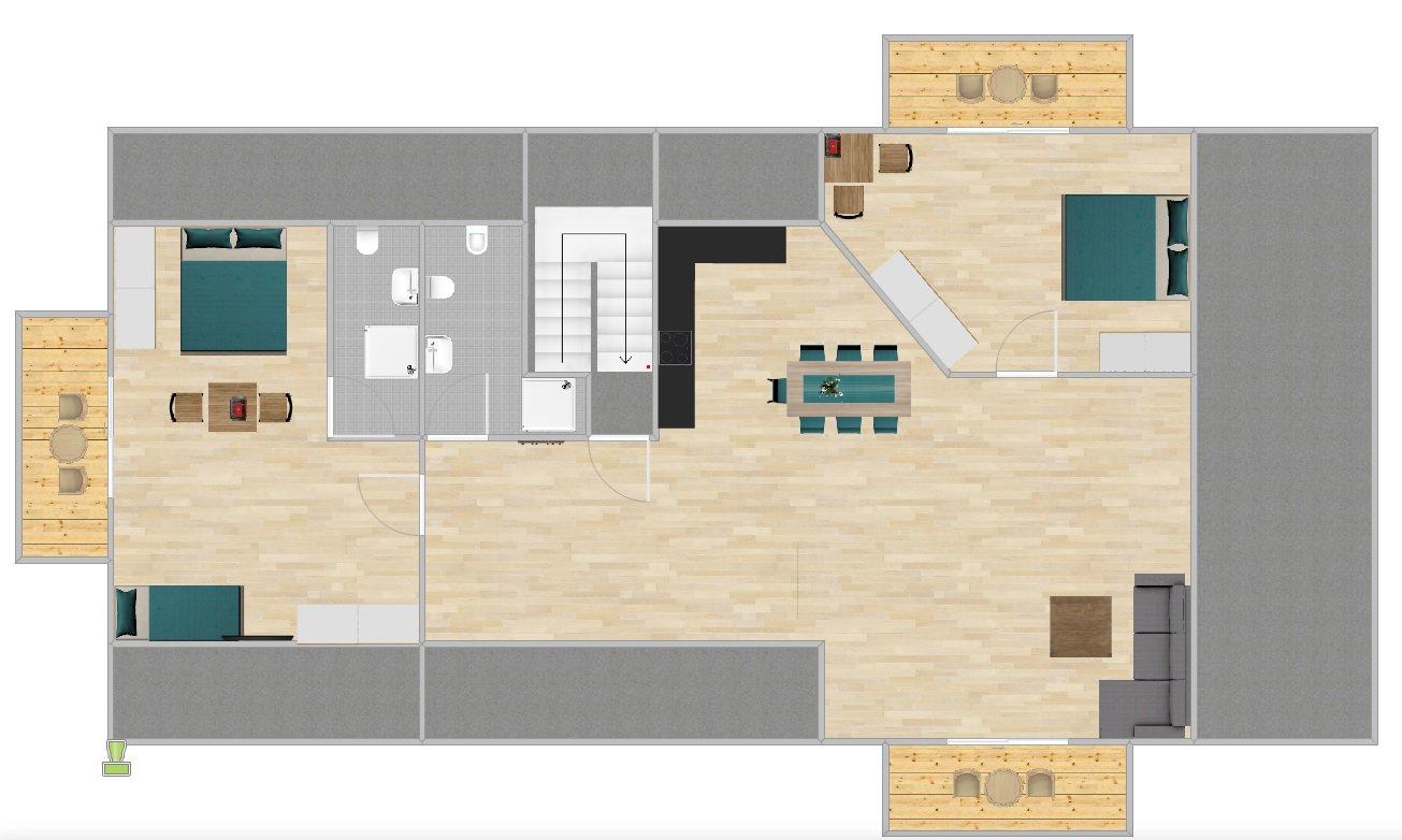 Grundriss Appartment Panorama