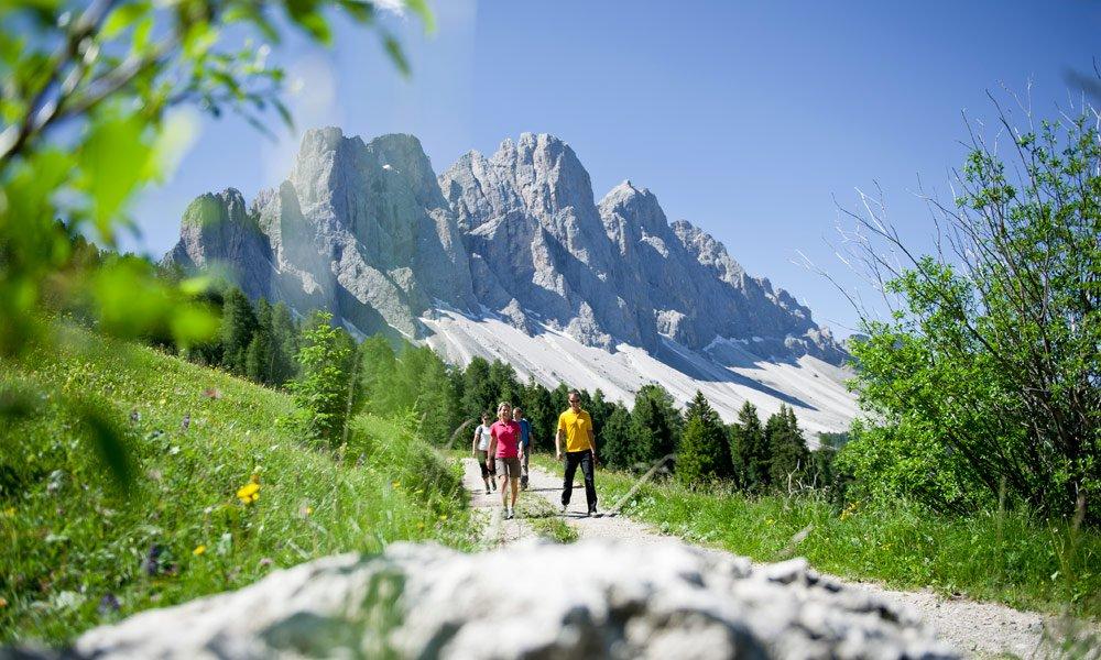 Freizeitaktivitäten im Sommer im schönen Villnöss in Südtirol